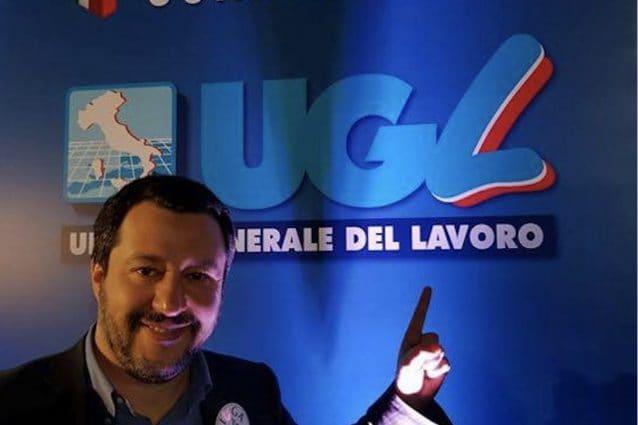 Matteo Salvini al congresso Ugl del 2018