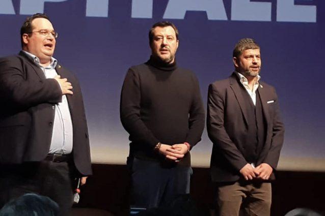 Matteo Salvini, Claudio Durigon e Francesco Zicchieri