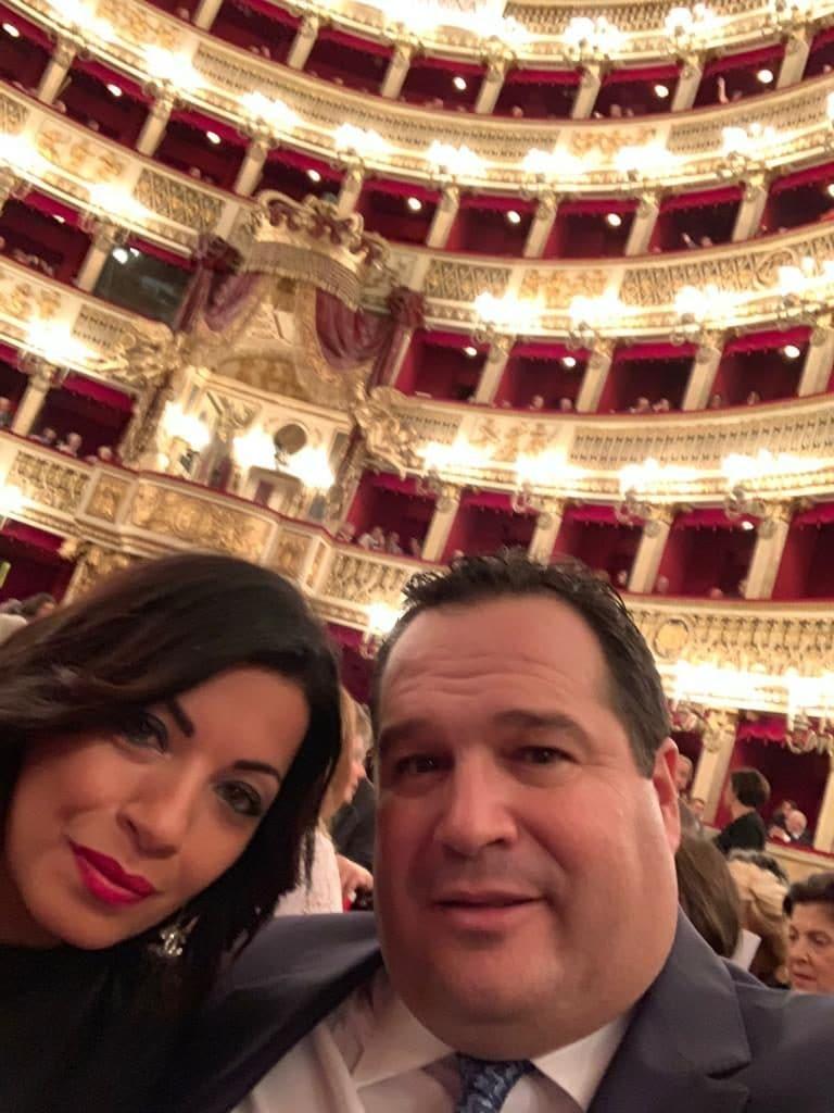 Claudio Durigon con Alessia Botta