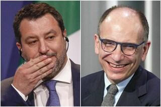 Sondaggi elettorali, Letta punta Salvini: il Pd è pronto a superare la Lega