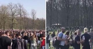 Migliaia di giovani si radunano per un mega-rave ma è un Pesce d'Aprile: polizia disperde la folla