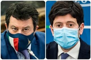 """Salvini: """"Se Speranza può continuare a fare il ministro? Se parla solo di chiusure no"""""""