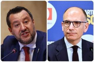 """Ddl Zan, Salvini avverte Letta: """"Troviamo accordo prima che il testo arrivi in Aula o finisce male"""""""