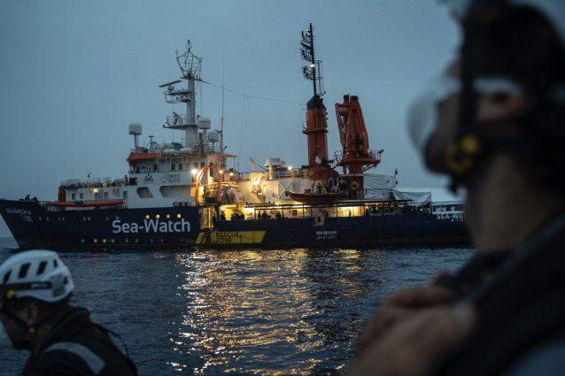 Foto da Twitter della ong Sea Watch Italy