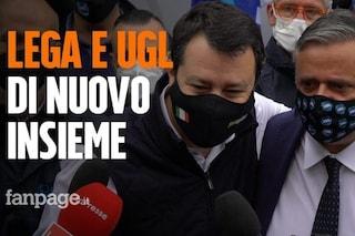 """Ugl a Milano per il Primo maggio, spintoni a giornalisti. Salvini: """"Solidarietà a Durigon"""""""