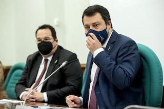 """Salvini: """"Con Draghi non parlo di Durigon, le mozioni di sfiducia mi preoccupano zero"""""""