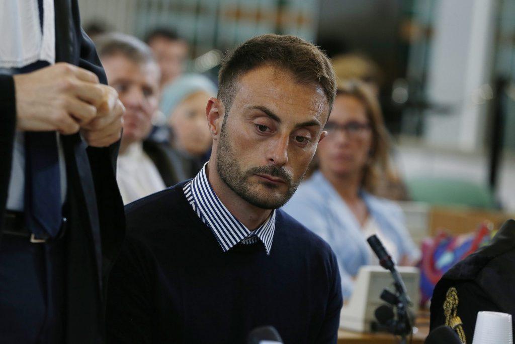 Francesco Tedesco durante il processo