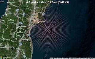 Giappone, terremoto di magnitudo 6.7 davanti alla costa est: stessa zona del sisma di Fukushima