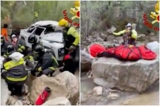 Minivan finisce in un dirupo: feriti gravemente i sei operai a bordo. L'incidente a Badia Tedalda