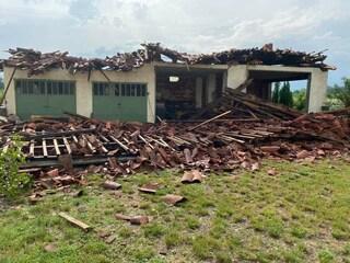 Canavese, nubifragi e raffiche di vento: case inagibili e serre distrutte. Si valuta stato di calamità