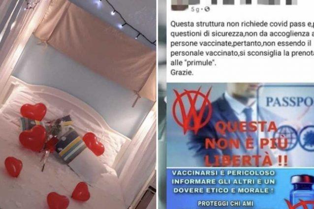 """""""Accettiamo solo ospiti non vaccinati"""": l'annuncio del b&b scatena la bufera su Facebook"""