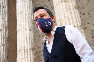 """Salvini torna alla carica contro l'obbligo di mascherine all'aperto: """"Liberiamo gli italiani"""""""