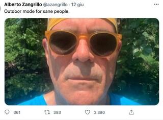 """Zangrillo e il selfie senza mascherina all'aperto """"per persone assennate"""": scoppia la polemica"""