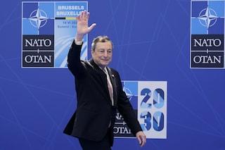 """Draghi al summit Nato: """"Pronti ad affrontare chi non condivide nostri valori e minaccia democrazie"""""""