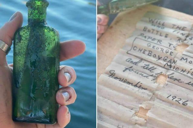 Lancia messaggio in bottiglia nel fiume, ritrovato 95 anni dopo e consegnato alla figlia grazie ai social