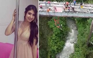 Fraintende segnale di via durante il Bungee jumping, ragazza salta dal ponte senza corde e muore