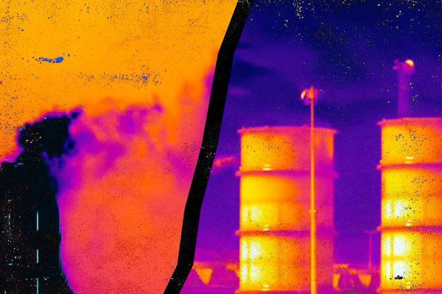 Le immagini delle telecamere termiche mostrano la pericolosità delle emissioni di metano in Italia