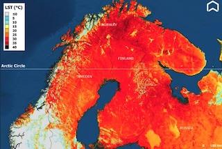 Ondata di caldo record travolge il Nord Europa: in Lapponia temperature mai così roventi dal 1914