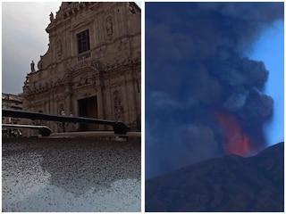 L'Etna si risveglia con boati, fontane di lava e pioggia di cenere