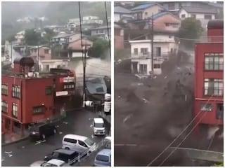 Enorme colata di fango si riversa in città e spazza via tutto, decine di dispersi in Giappone