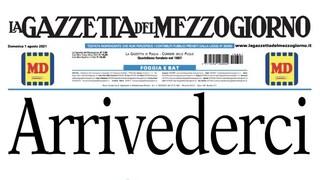 """""""Arrivederci"""". Chiude dopo 133 anni la """"Gazzetta del Mezzogiorno"""", a rischio 144 lavoratori"""