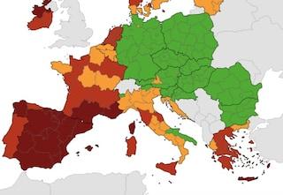 Mappa Ue del rischio Covid: Sicilia, Sardegna, Toscana e Marche in zona rossa, la Puglia è verde