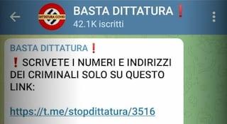 Il canale Telegram Basta Dittatura è stato chiuso: era la chat principale di no vax e complottisti