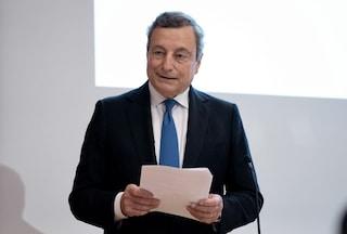 """Draghi: """"Se riduciamo contagi possiamo eliminare restrizioni, green pass permette di aprire tutto"""""""