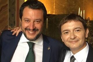 """Morisi indagato, Salvini: """"Ha fatto male a se stesso, ma può contare su di me per rialzarsi"""""""