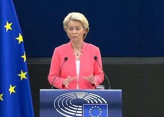 """Stato dell'Unione, von der Leyen: """"Europa ha reagito unita a pandemia, dobbiamo andarne fieri"""""""
