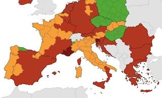 Mappa Ue del rischio Covid: tutta Italia è arancione, restano in zona rossa tre regioni
