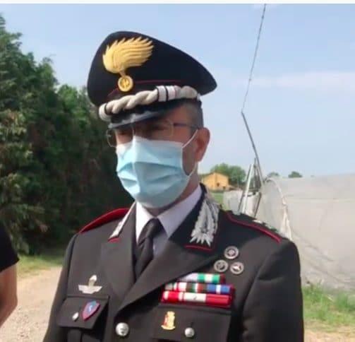 Il comandante dei carabinieri di Reggio Emilia, Stefano Bove