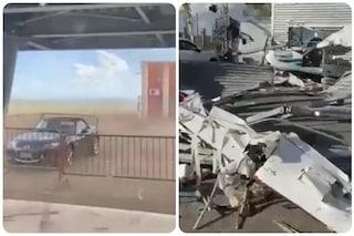 Carpi, tromba d'aria devasta l'aeroporto di Fossoli: distrutti gli aerei e un hangar