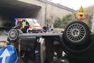 Drammatico incidente sull'autostrada A20 a Messina: auto giù dal viadotto, automobilista salvato