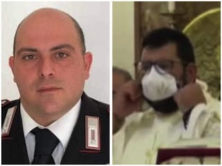 """Carabiniere ferito in chiesa, il prete: """"Litigavano per banco in prima fila, una bestialità"""""""