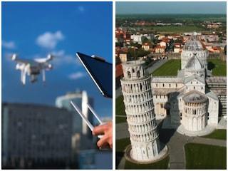 Il suo drone si schianta contro la Torre di Pisa: denuncia e velivolo sequestrato