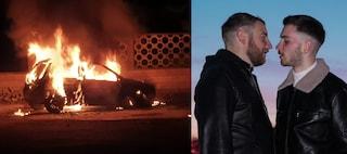 """Auto in fiamme e minacce: """"Ti brucio con l'olio, gay"""", la denuncia a Fanpage di Cosmo e Massimo"""
