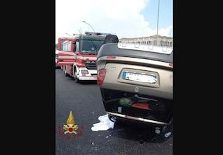 Reggio Calabria, auto si ribalta a causa della pioggia: morta sul colpo donna di 54 anni