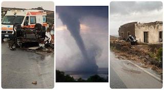 """Tromba d'aria a Pantelleria, i soccorritori: """"Scena apocalittica"""". Il sindaco: """"Si cercano dispersi"""""""
