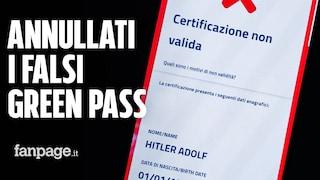 I falsi Green Pass intestati ad Adolf Hitler sono stati annullati