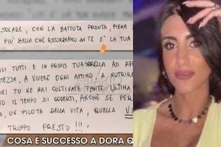 """Dora Lagreca, lettera dei familiari che non credono al suicidio: """"La vita ti è stata tolta presto"""""""
