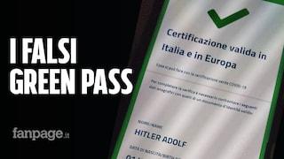 In Italia circolano falsi green pass che passano i controlli. Sono intestati ad Adolf Hitler
