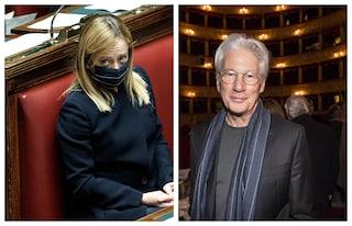 Processo Open Arms, Giorgia Meloni dice che Richard Gere è un attore in cerca di visibilità