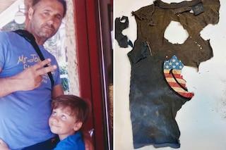 """Caronia, Daniele Mondello pubblica la foto della maglietta di Gioele: """"Ecco cosa è rimasto, voglio verità"""""""