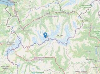 Terremoto al confine tra Italia e Svizzera, scossa magnitudo 3.9 avvertita ad Aosta