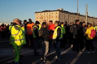 Continua il presidio dei No Green Pass al porto di Trieste, ma non ci sono blocchi
