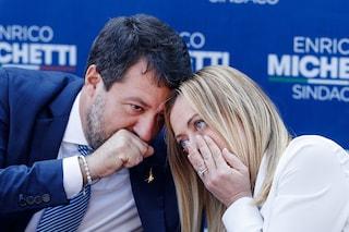 Sondaggi elettorali: Fratelli d'Italia di Giorgia Meloni primo partito, crolla la Lega di Salvini