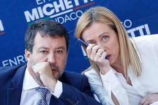 """Trieste, Salvini Meloni contro il governo: """"Idranti contro lavoratori che scioperano pacificamente"""""""