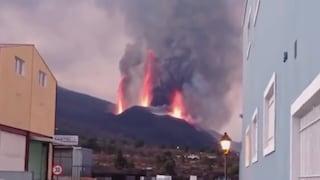 Crollo del cratere vulcaniano a La Palma, enorme eruzione di lava alle Canarie