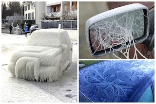 Le 15 auto più incredibili che l'inverno ha reso opere d'arte